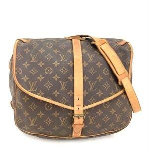 Auth Louis Vuitton Saumur 30 Crossbody #2184L20